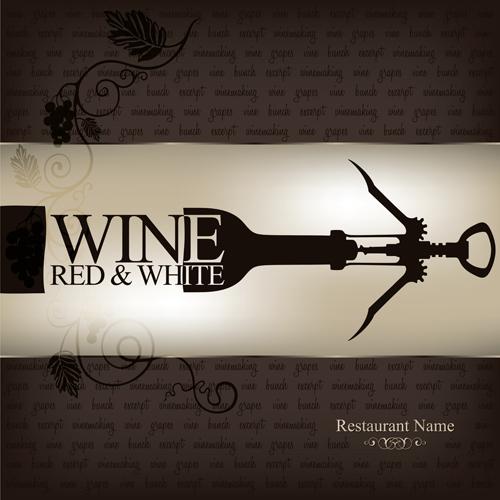 Wine vintage background 1 design vectors