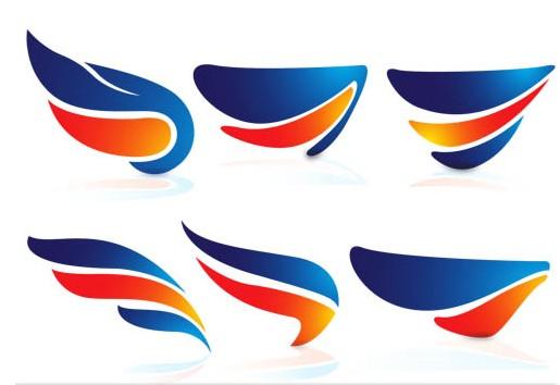 Wings Logo free vector