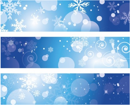 Winter Banners free vector