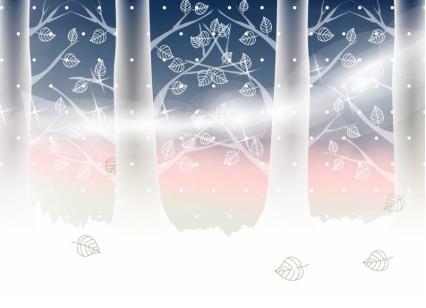 Winter Landscape vector graphics
