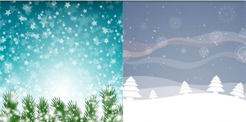Winter Landscapes art 2 vector