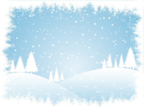 Winter Snow Mountain background vector
