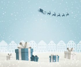 Winter christmas gift card template vectors 04