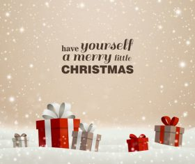 Winter christmas gift card template vectors 06