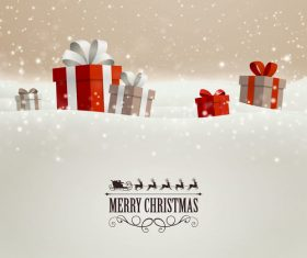 Winter christmas gift card template vectors 07
