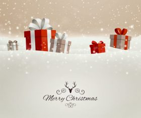 Winter christmas gift card template vectors 08