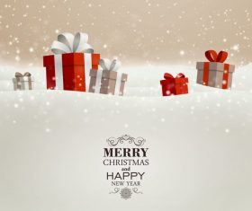 Winter christmas gift card template vectors 09