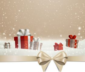 Winter christmas gift card template vectors 10