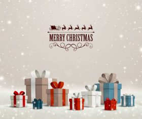 Winter christmas gift card template vectors 12
