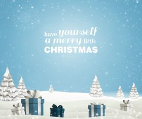 Winter christmas gift card template vectors 13