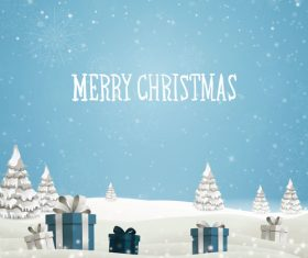 Winter christmas gift card template vectors 14