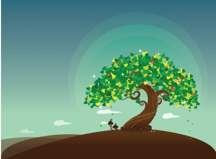 Wish Tree Illustration design vector