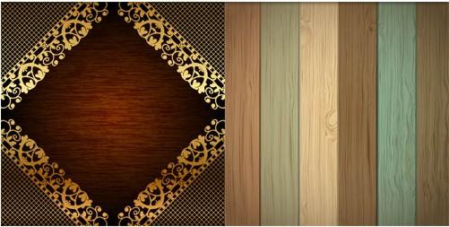 Wood Backgrounds design vectors