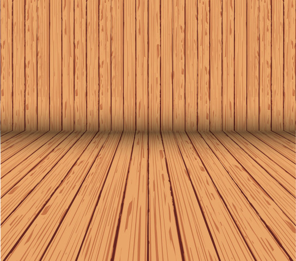 Wood board background vector