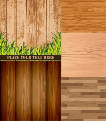 Wood grain background vector