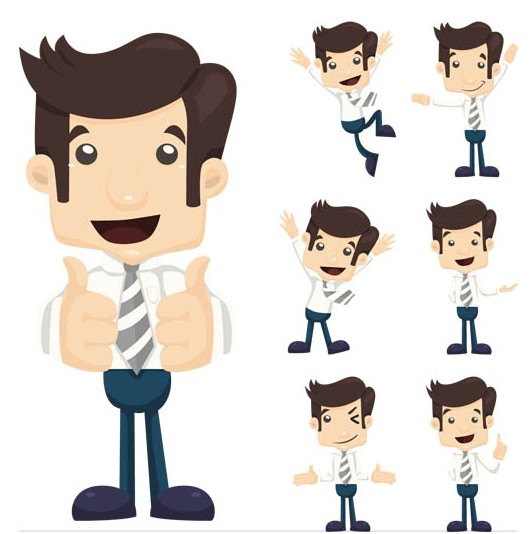 Working Cartoon People vector