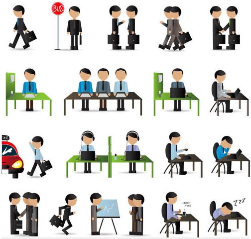 Working People Set 4 vector