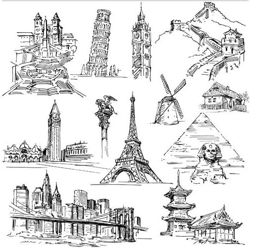 World Landmark Elements 2 vectors graphics