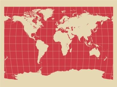 World Map Background Illustration vector