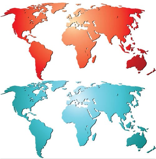 World Maps Vector material