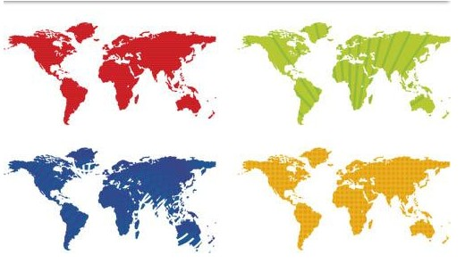 World Maps graphic vector