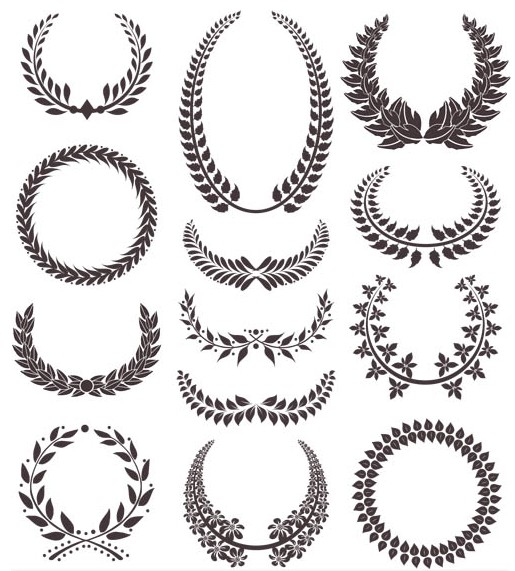 Wreaths Elements vector