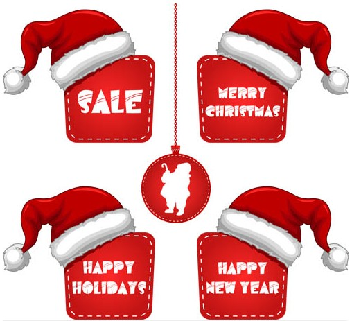 X mas Discount Elements vector