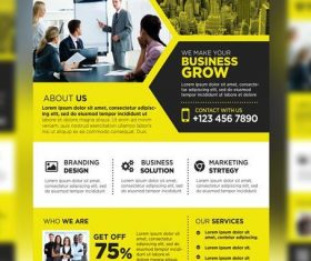 Yellow Styles Business Promotional Flyer PSD Template