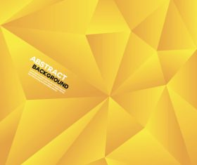 Yellow geometric polygon background vector