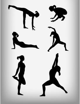 Yogicon silhouette design vector
