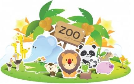 Zoo Cute creative vector