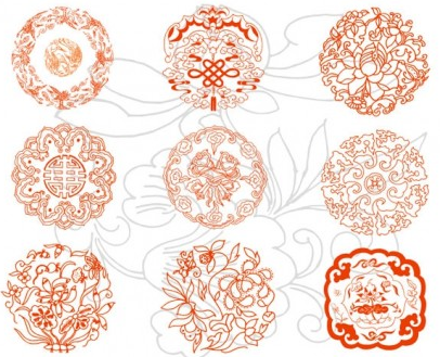 auspicious patterns vector design