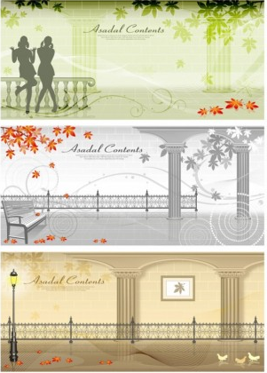 autumn street vector