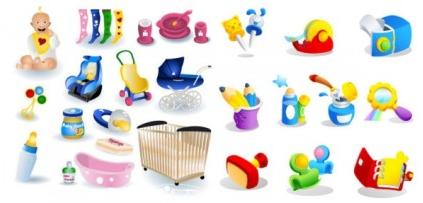 baby theme icon vectors