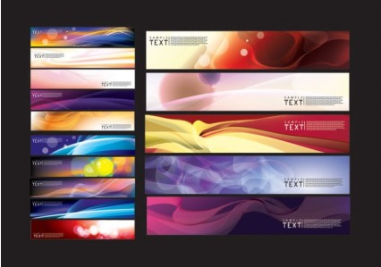 background dream banner vector