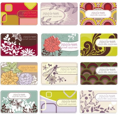 background elegant flower pattern cards 01 design vectors