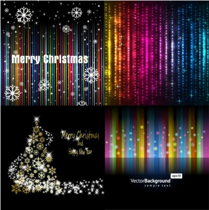 background stars and snowflakes vector