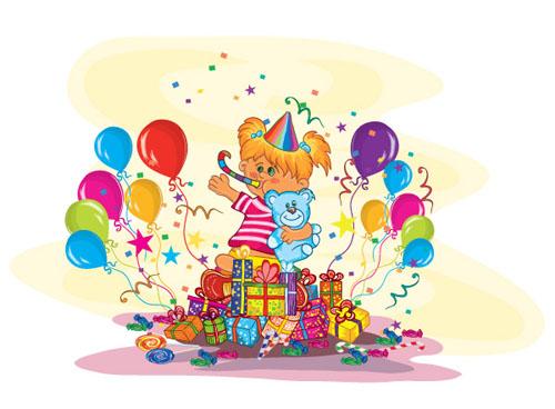 balloon gift cards vector