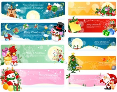 Banner christmas theme vector