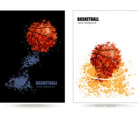 basketball poster template design vector 01