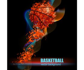 basketball poster template design vector 02
