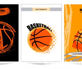 basketball poster template design vector 03