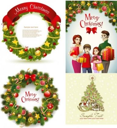 beautiful christmas wreath Illustration vector