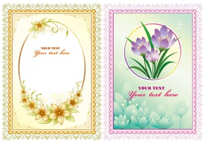 beautiful lace flowers vector