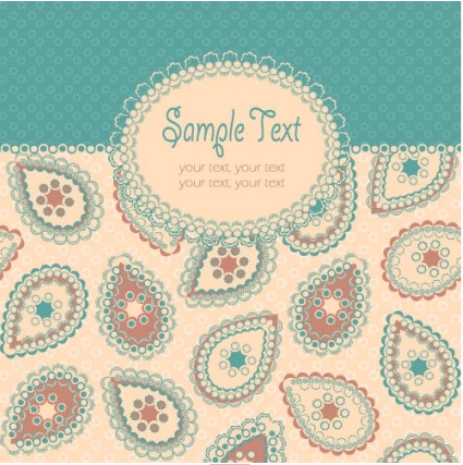 beautiful pattern background 05 vector