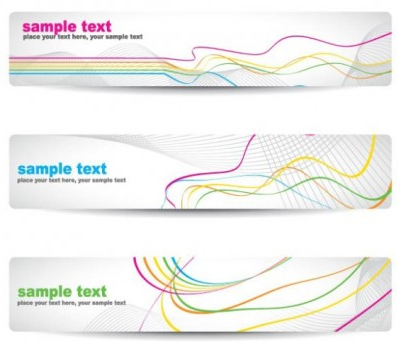 beautiful pattern banner 04 vectors graphics