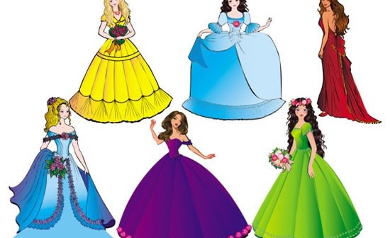 beautiful princess vectors graphics
