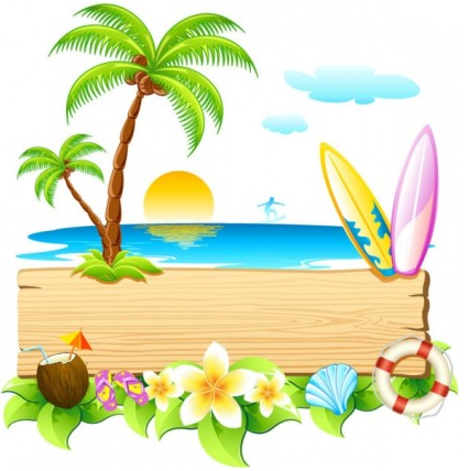 beautiful summer card 01 vector design