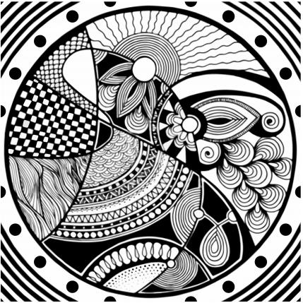 black and white Free vector design