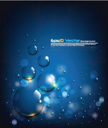blue water drops background 2 vector